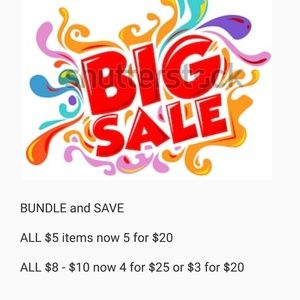 Other - BUNDLE & SAVE SALE